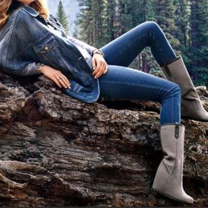 UGG Soleil Genuine Shearling Tall Wedge Boots 8.5